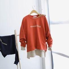 JUSTONE - Dip-Back Lettering Sweatshirt