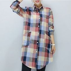 Oaksa - Plaid Long Shirt