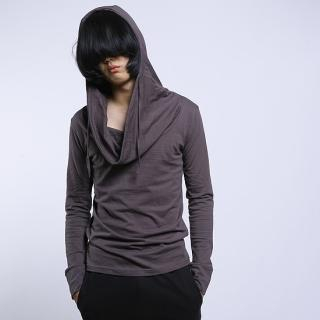 Cowl-Neck Hooded Pullover