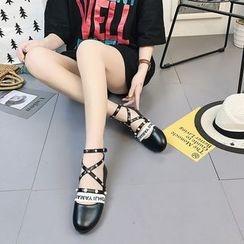 EMIL - Studded Letter Dance Shoes