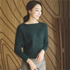 ode' - Boat-Neck Dolman-Sleeve Sweater