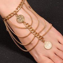 Seirios - Coin-Drop Chain Anklet