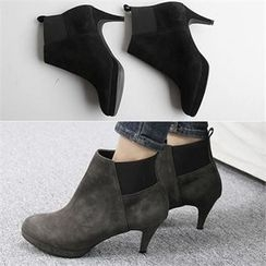 Reneve - Banded Genuine-Suede Ankle Boots