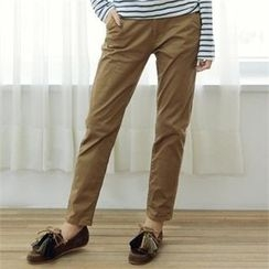 YOOM - Plain Straight-Cut Pants
