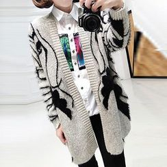 FR - Mohair Patterned Long Cardigan