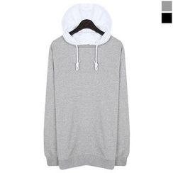 Seoul Homme - Contrast-Hood Sweatshirt