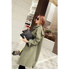 Momnuri - Maternity Stand-Collar Cotton Coat