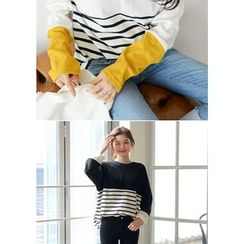 DEEPNY - Long-Sleeve Striped T-Shirt