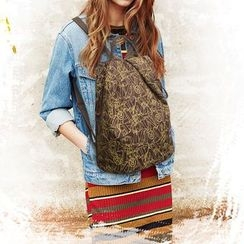 Tasche - Set: Printed Backpack + Crossbody Bag + Pouch