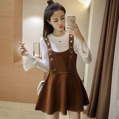 Ashlee - Set: Long-Sleeve T-Shirt + Jumper Dress