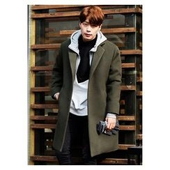 HOTBOOM - Notched-Collar Wool Blend Coat