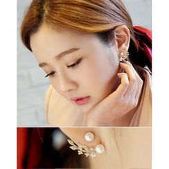 Miss21 Korea - Leaf Spray Earrings