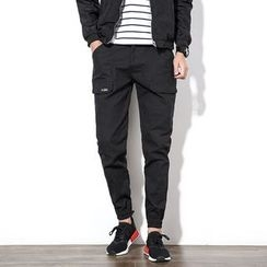 Edway - Gathered Cuff Slim-Fit Pants