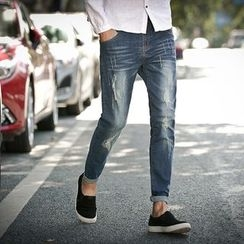Edway - Distressed Skinny Jeans