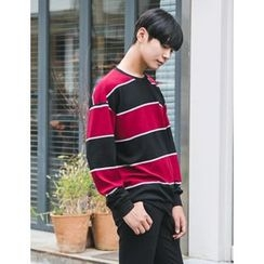 STYLEMAN - Round-Neck Striped T-Shirt