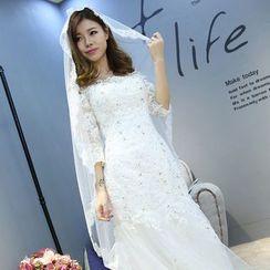 Nymphie - Lace Trim Wedding Veil