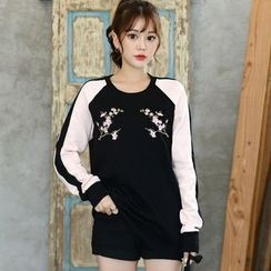 DEEPNY - Raglan-Shoulder Embroidered Sweatshirt