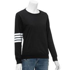 Kikiyo - 条纹袖套衫