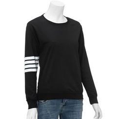 Kikiyo - Striped Sleeve Pullover