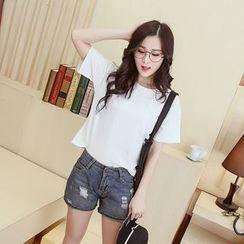 Sienne - Short-Sleeve Plain T-Shirt