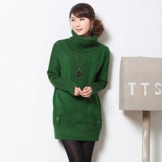 Mooiee - Cowl-Neck Knit Tunic