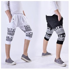 Hansel - 图案短款哈伦裤