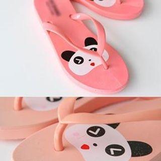 Bongjashop - Panda Print Flip-Flops