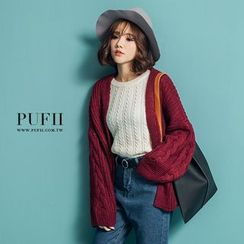 PUFII - Cable Knit Cardigan
