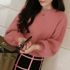 Fashion Street - Plain Furry Sweater