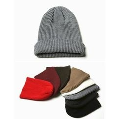 STYLEMAN - Colored Rib-Knit Beanie
