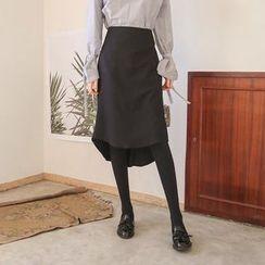 Seoul Fashion - Dip-Back Midi Skirt