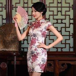 Montebelle - 提花盖袖旗袍