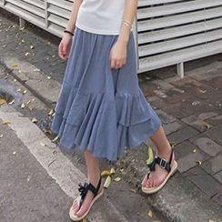 CaraMelody - Tiered Midi Skirt