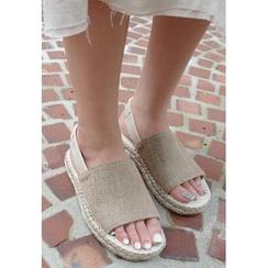 BBORAM - Espadrille Slingback Flat Sandals