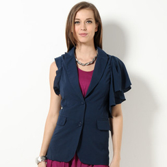 YesStyle Z - Ruffled Shoulder Vest