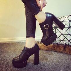 Sunsteps - Chunky Heel Platform Ankle Boots