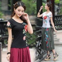 Diosa - 短袖刺繡T裇