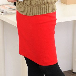 59 Seconds - Knit Pencil Skirt + Belt