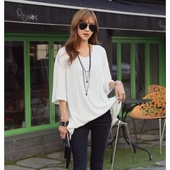 REDOPIN - Loose-Fit 3/4-Sleeve Top