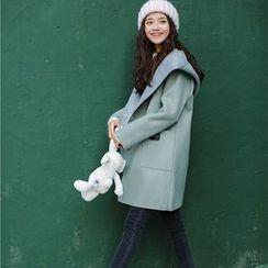 AiAi Bear - 双排扣连帽大衣