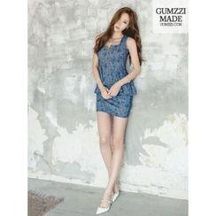 GUMZZI - 无袖仿两件连衣裙