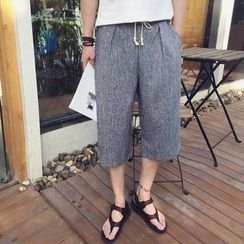 ZONZO - Cropped Loose Fit Drawstring Pants