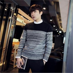 MITOSHOP - Two-Tone Knit Sweater