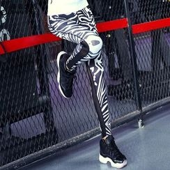 Lissom - Mesh Panel Printed Sport Pants