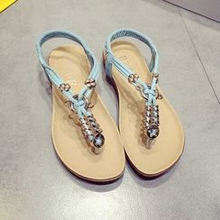 Ginko - Faux-Leather Flip-Flops