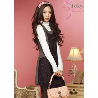 Tokyo Fashion - Two-Tone Sleeveless Dress