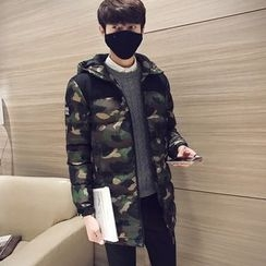 YONDER - Hooded Camouflage Print Padded Jacket