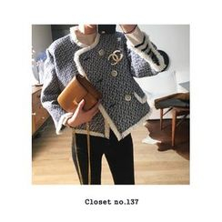 ssongbyssong - Fringed-Trim Tweed Jacket