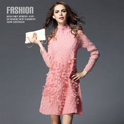 Ozipan - Rosette A-Line Dress