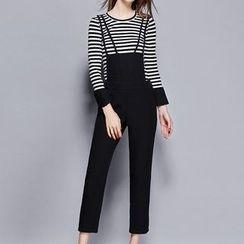 Mukouf - Set: Long-Sleeve Striped T-Shirt + Jumper Pants